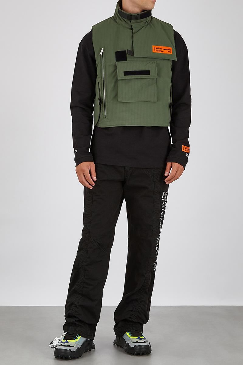 Heron Preston ripstop gilet green army shell functional outerwear coats designer gilets for autumn winter 2020