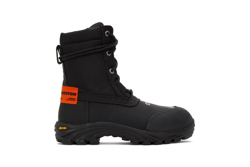 Heron Preston Utility Security Boots Black Orange menswear streetwear footwear spring summer 2020 collection ss20
