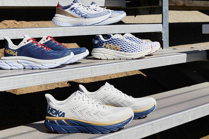 hoka one one team kit olympic release sneakers running marathon trainers cushioning supporting running trainers CARBON X-SPE CLIFTON 7 CLIFTON EDGE RINCON TK ORA RECOVERY SLID