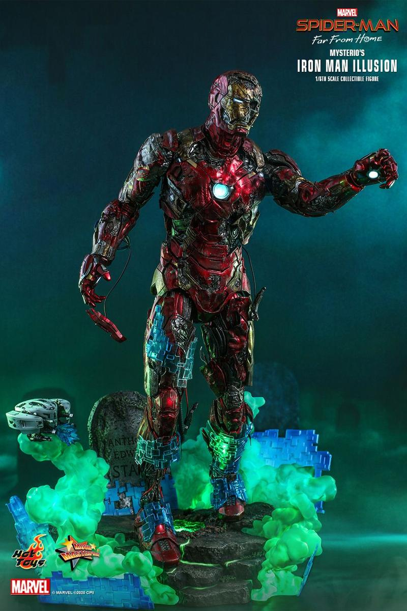 hot toys mysterio spider man far from home iron man zombie illusion 1 6th action figure toy collectible