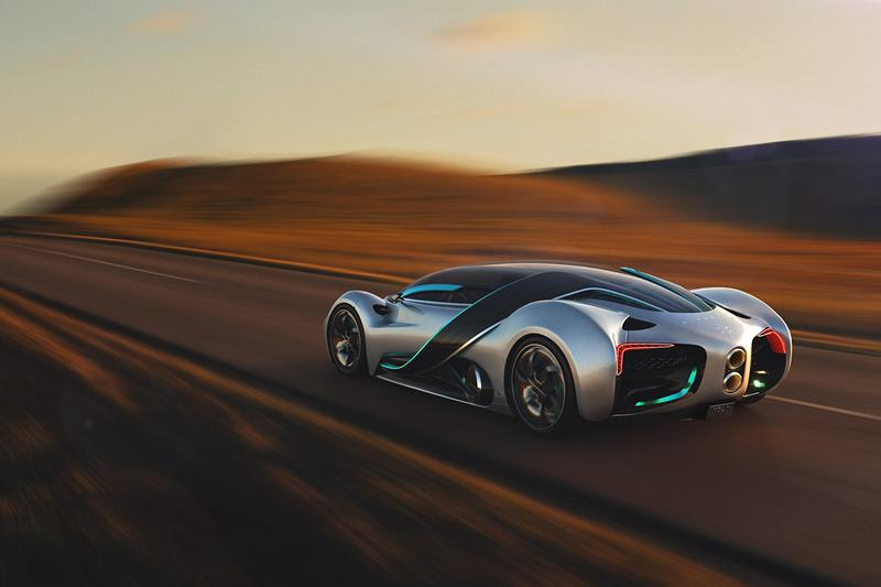 Hyperion XP-1 Hydrogen-Powered Hypercar Prototype First Look Reveal Future Southern Californian USA Super Car Technology 0 60 MPH 2.2 Seconds 221 MPH Top Speed V Wing Doors 1000 Miles Range
