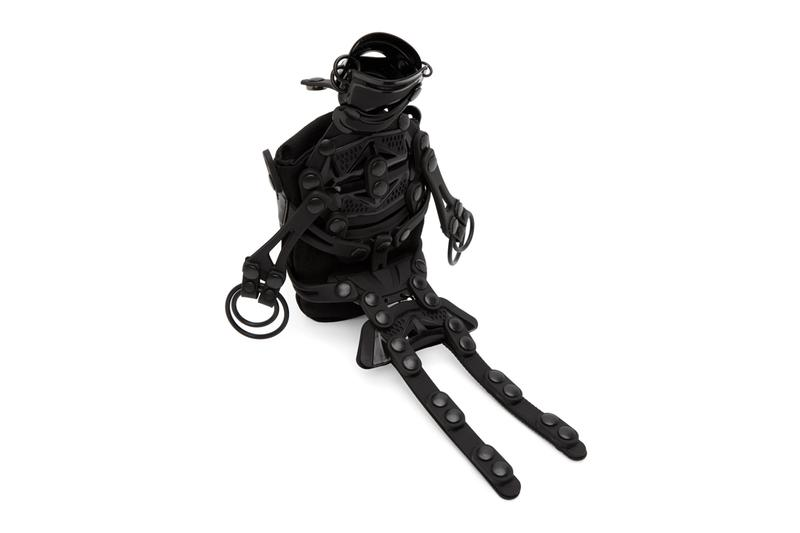 Innerraum Black Robot Fun Messenger Bag menswear streetwear spring summer 2020 collection ss20 accessories