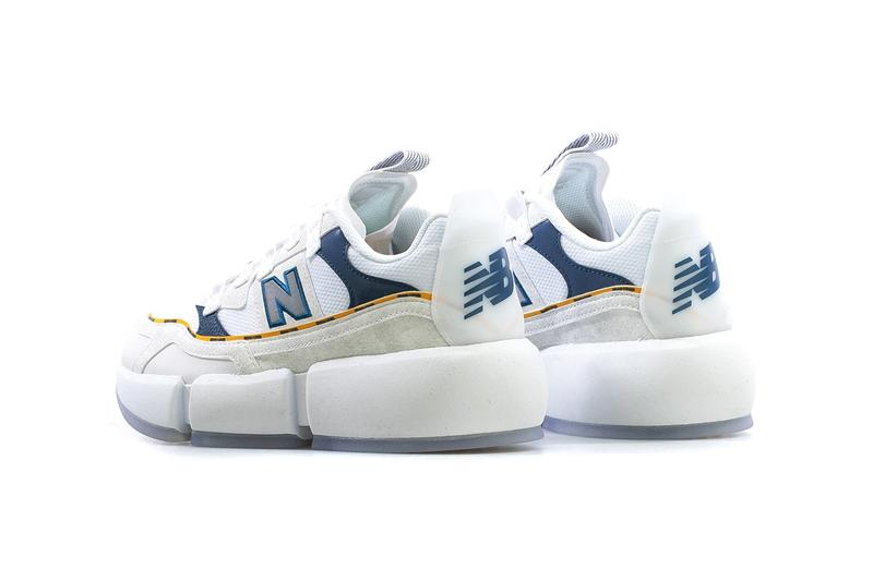 jaden smith new balance vision racer white navy blue yellow entanglement MSVRCJSG official release date info photos price store list buying guide