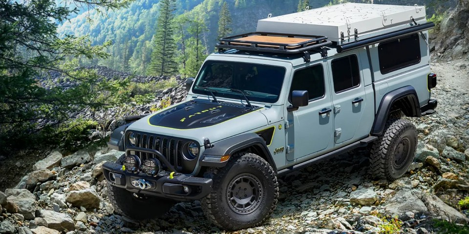 Jeep Transforms Its Gladiator EcoDiesel Into an Overlanding Dream Concept