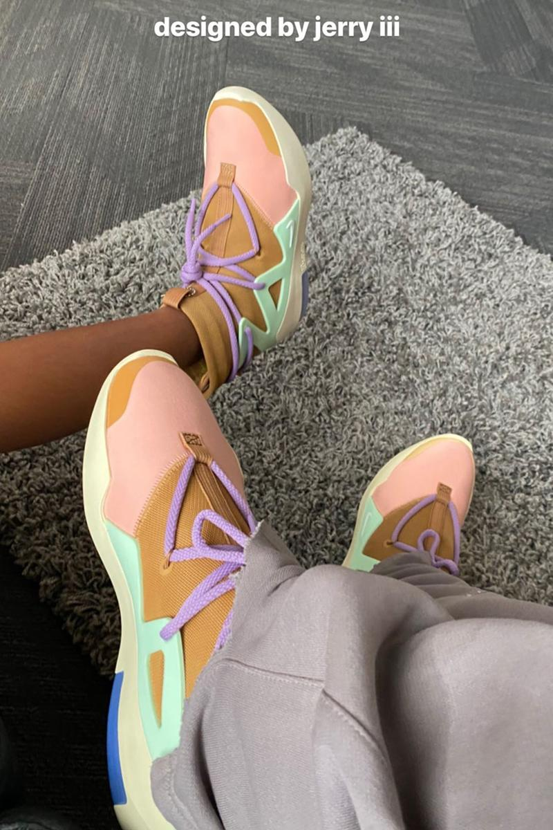 jerry lorenzo little iii nike sportswear air fear of god 1 brown tan purple green sample pe leo chang official release date info photos price store list buying guide