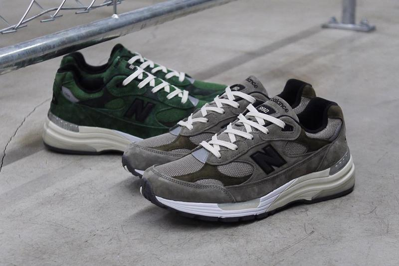 jjjjound justin saunders new balance 992 green grey tan white official global worldwide release date info photos price store list buying guide