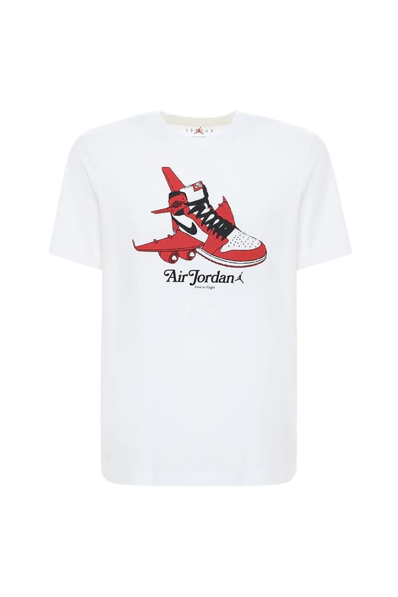 "Nike Jordan Brand Air Jordan 1 ""Chicago"" T-Shirt AJ1 Jumpan Michael Jordan ""First in Flight"" Airplane Tee Top LUISAVIAROMA Release Information Red White MJ"