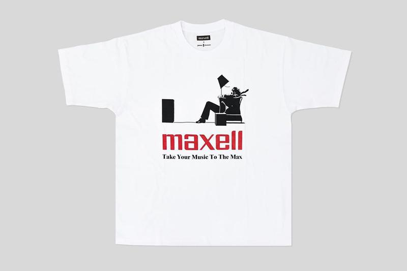 JOURNAL STANDARD Drops Nostalgic Maxell T-Shirt Collection blown away guy cassette tapes cds music '90s '80s recordings