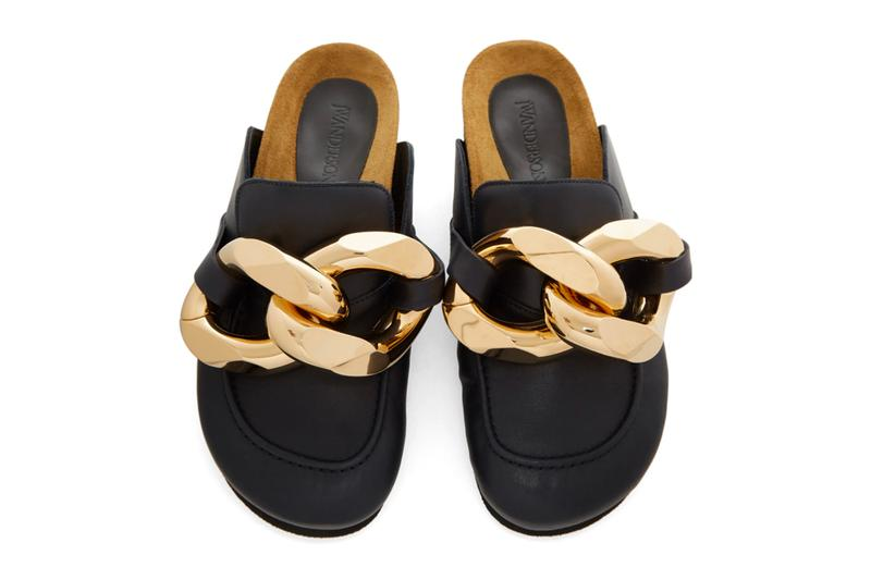 JW Anderson Leather Curb Chain Loafers menswear streetwear spring summer 2020 collection ss20 footwear shoes slip ons sandals