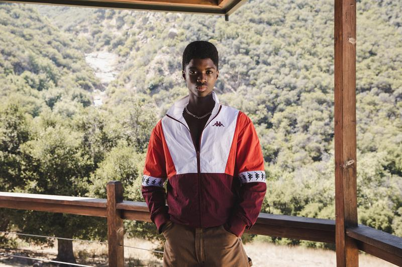 Kappa Fall/Winter 2020 Lookbook Collection quarter-zips bomber jackets hoodies sweatpants biker shorts cropped tops sports bras leggings