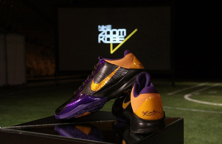 kobe bean bryant nike basketball kobe 5 protro 2009 2010 nba season memorable moments los angeles lakers fifth championship chaos bruce lee in line big stage official release date info photos price store list buying guide