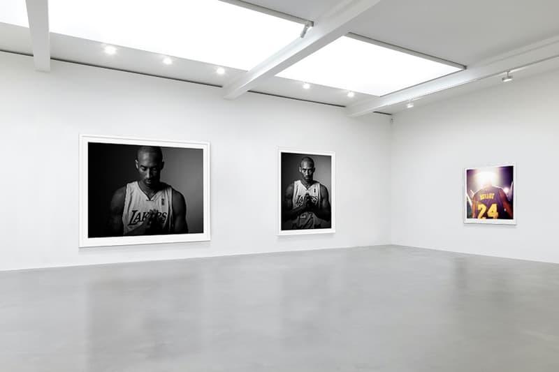 "Kobe Bryant Virtual Exhibition Plastic Gallery ""8/24 : Kobe Bryant"" Michael Muller installation views NBA champion portraits mamba week"