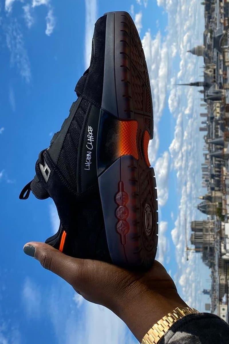 lucien clarke virgil abloh louis vuitton skateboarding skate shoe black orange thrasher magazine official release date info photos price store list buying guide