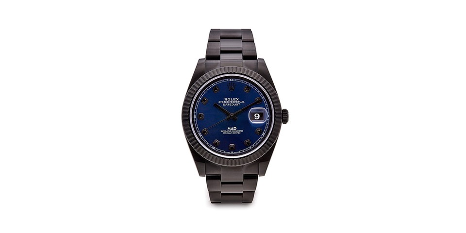 MAD Paris' Rolex Datejust 41 Makes a Bold Black and Blue Statement