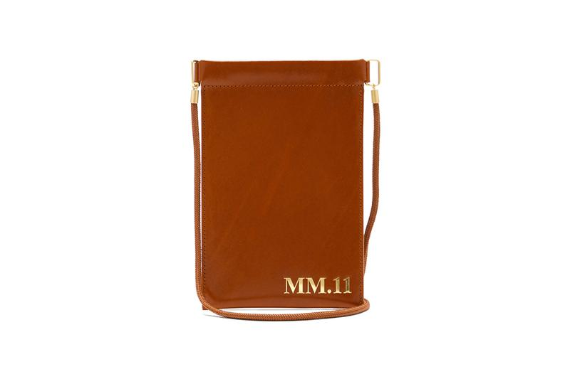 Maison Margiela MM 11 Embossed Leather Phone Pouch Release 1369894 1369893 tan black matchesfashion matches fashion