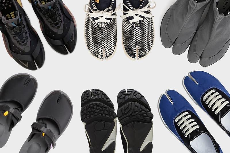 There's More to Tabi Shoes Than Maison Margiela Tabi Boot Hoof Foot Sneaker Nike ISPA Drifter Sou Sou Festival Suicoke Purple Label Nepenthes Sandal Split Toe ILYSM Dust YEEZY Designer visvim Tabi Sashiko-Folk BEAMS Japan x Moonstar Jikatabi Shoes Nike Wildcard Ankle Socks Nike Aqua Rift maharishi