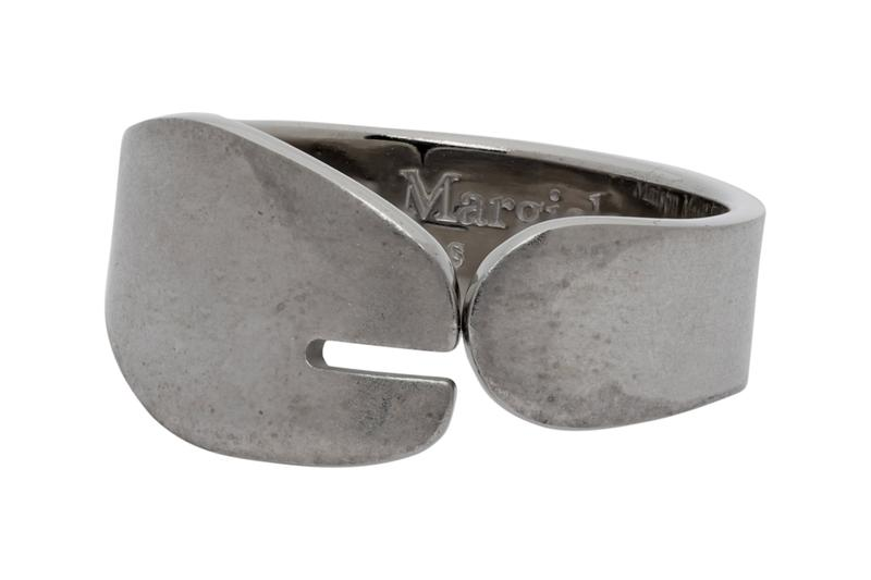 Maison Margiela Tabi Ring Release SSENSE accessories jewelry shopping silver tabi shoes