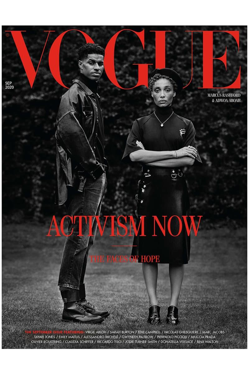 Marcus Rashford Covers British Vogue September Issue Edward enninful adwoa aboah