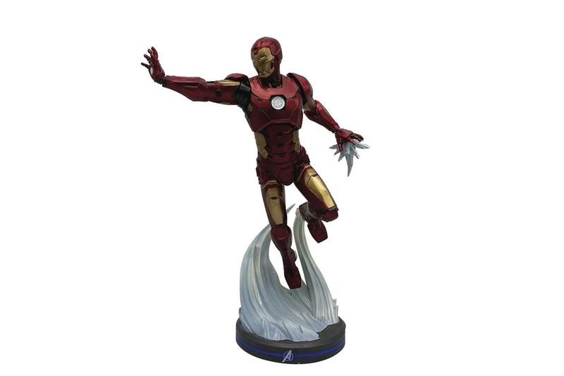 square enix pcs collectibles marvels avengers thor captain america iron statues toys collectibles