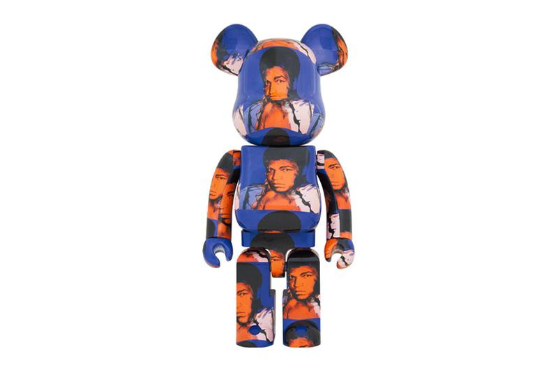 medicom toy Andy Warhol Muhammad Ali 1000 percent BEARBRICK release 1000 percent toys collectibles figures Japan