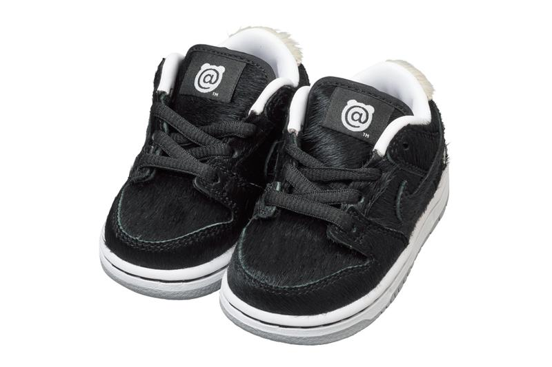 medicom toy bearbrick nike sb dunk low black white fur official release date info photos price store list buying guide