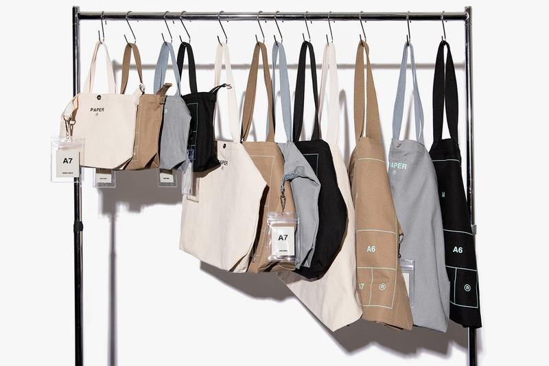 """nana-nana Introduces Tote Bag Collection Graphics Printed """"PAPER"""" """"TELEPHONE"""" """"TRASH BOX"""" """"ROOM"""" """"NOT MAISON"""" 100 Percent Cotton Brown Cream Off White Gray Black Accessories Japan"""