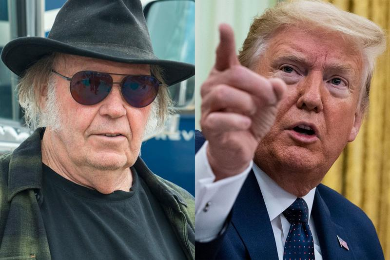 Neil Young Sues Donald Trump for Copyright Infringement Unauthorized Use of Songs President 2020 Election Rockin in the Free World Devils Sidewalk News HYPEBEAST updates