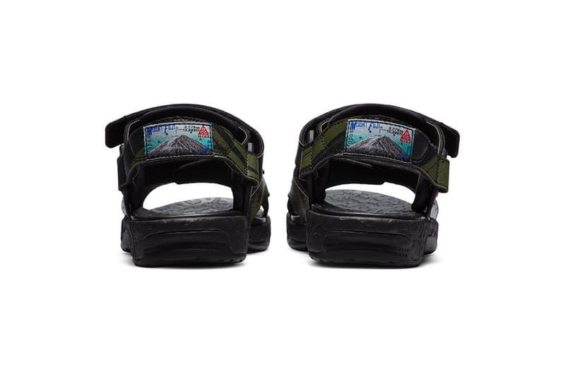 "Nike ACG Air Deschutz Sandals ""Mt. Fuji"" BlackCargo/Khaki Sneaker Sandal Footwear Release Information Closer Look Drop Date Dad Shoe Patches Retro OG"
