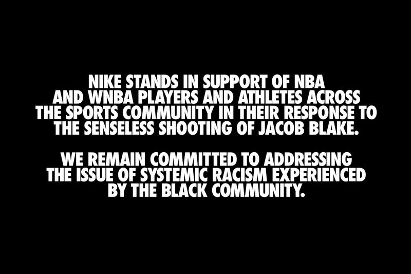 Nike adidas PUMA release Jacob Blake Statements nba wnba national basketball association sports boycott wildcat strike playoffs
