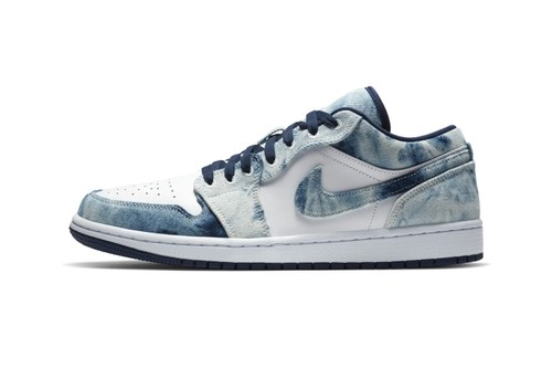 """Air Jordan 1 Low Receives Cloudy """"Washed Denim"""" Makeover"""