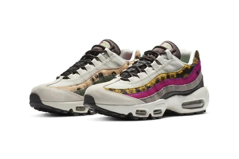 nike air max 95 daisy chain release information faux fur suede leather pink sunflower grey japan buy cop purchase