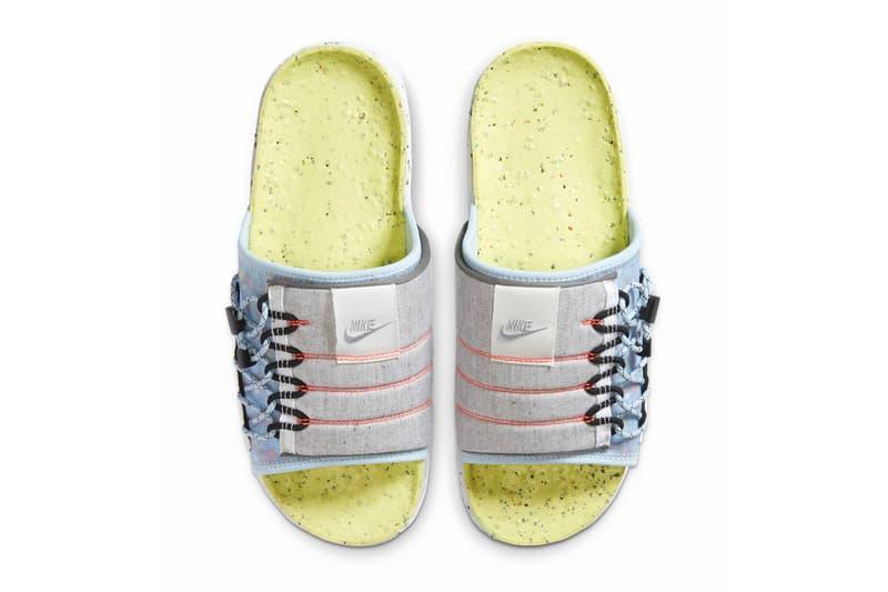 Nike Asuna Slide Light Lemon Twist Chambray Blue Black Wolf Gray DH0151 700 slides sandals spring summer 2020 collection