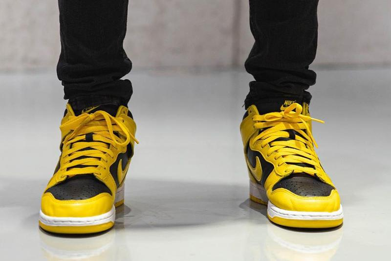nike sportswear dunk high varsity maize black white cz8149 002 holiday 2020 official release date info photos price store list buying guide