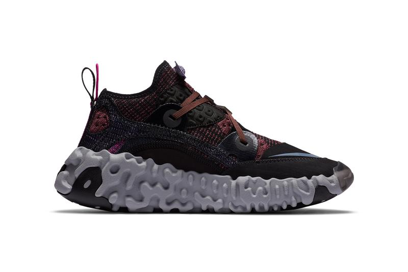 nike ispa overreact shadowberry black grey CD9664 002 official release date info photos price store list buying guide