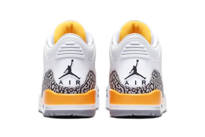 "Nike Jordan Brand Air Jordan 3 ""Laser Orange"" Release Information ""White Cement"" Elephant Print Tumbled Leather AJ3 Michael Jordan Sneaker Drop Footwear Basketball Shoe ck9246-108"