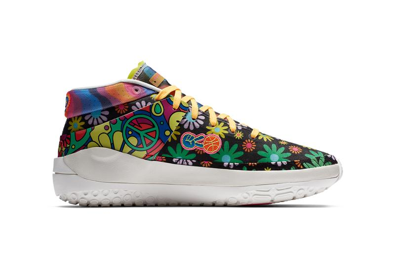 nike basketball kevin durant kd 13 easy money sniper peace love and basketball DA1341 100 floral print 60s rock official release date info photos price store list buying guide