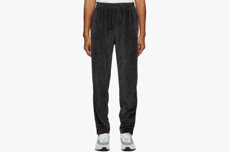 NikeCourt Gray Velour Tennis Track Jacket Lounge Pants Embroidered Logo Swoosh Brand Stretch Drawstring Cosy Sweatpants One Piece Look SSENSE