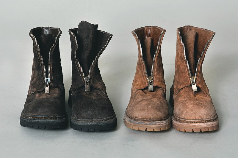 """nonnative Taps Guidi For Buttery """"Big Daddy"""" Horse Leather Center Zip Boots"""
