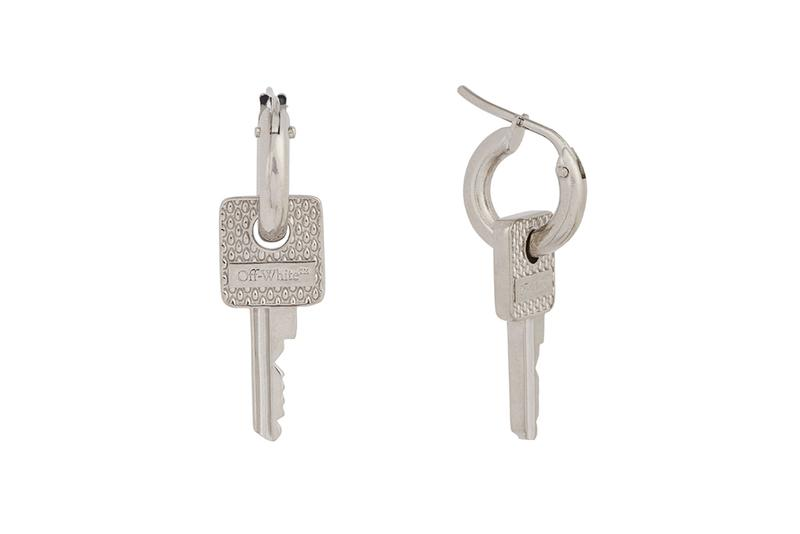 Off White Key Earring Release Silver Tone Buy Price Info Virgil Abloh
