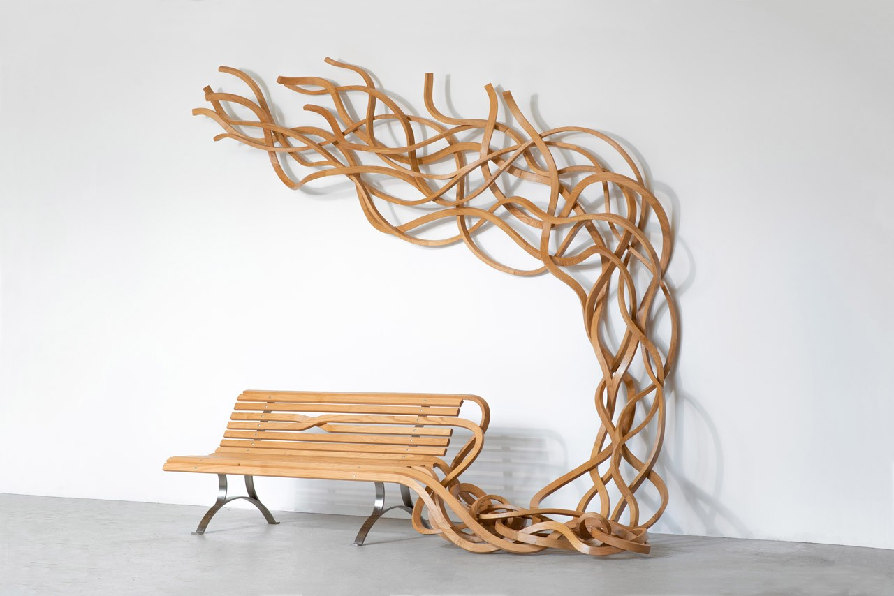 Pablo Reinoso Digital Exhibition Exclusive Quotes Waddington Custot gallery furniture design spaghetti benches sculpture wood nature