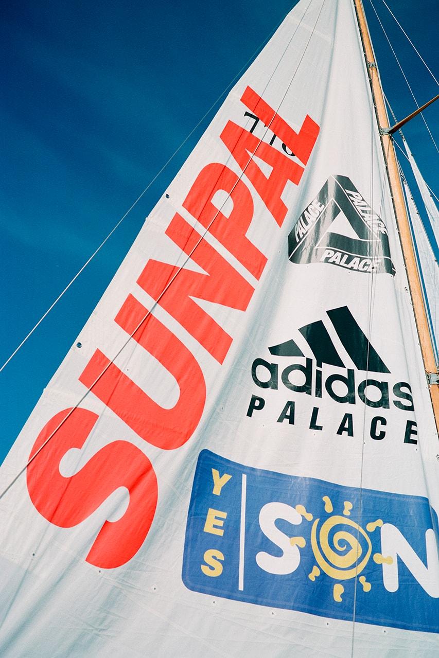 palace adidas originals fall winter 2020 summer sunpal shirt shorts towel water shoes release information buy cop purchase