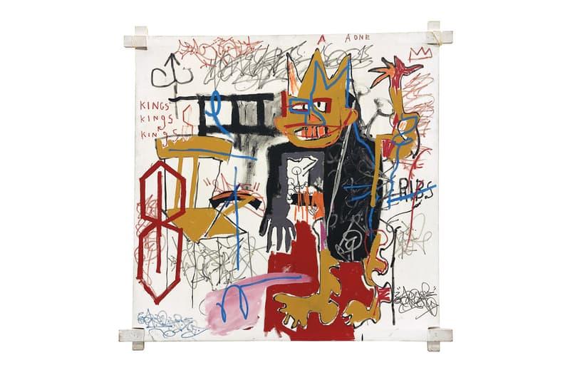 Phillips Jean-Michel Basquiat Auction Southampton 'Portrait of A-One A.K.A King' 1982 painting hamptons