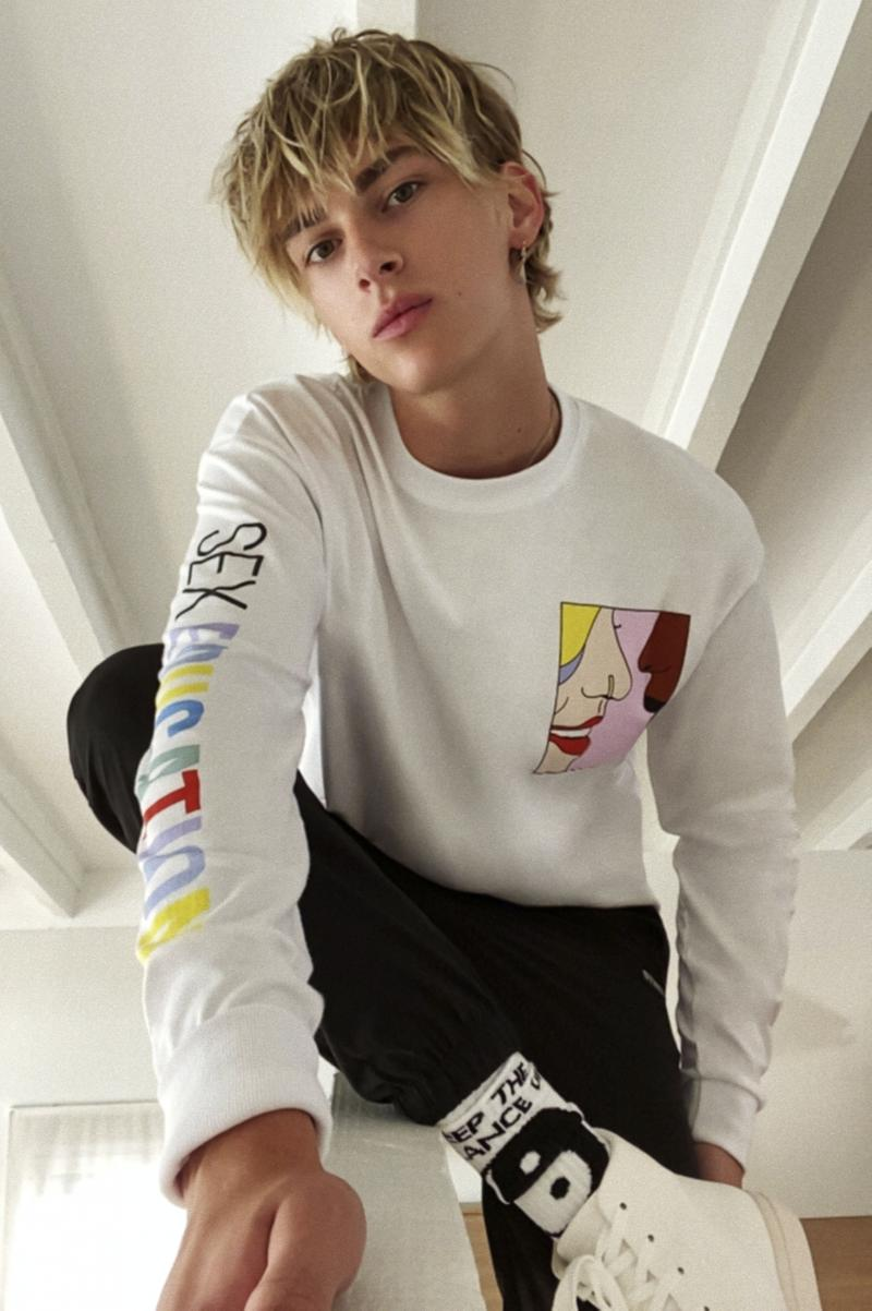 pull&bear netflix sex education capsule collection hoodie t-shirt apparel accessories