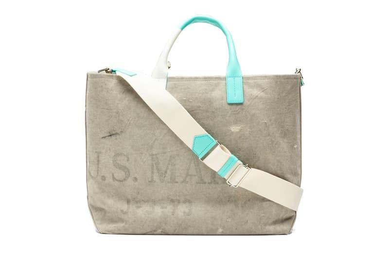 READYMADE U.S. Mail Bag Weekend Tote upcycling bags luxury vintage repurposed accessories Yuta Hosokawa RE-CO-WH-00-00-102 Tiffany & Co.