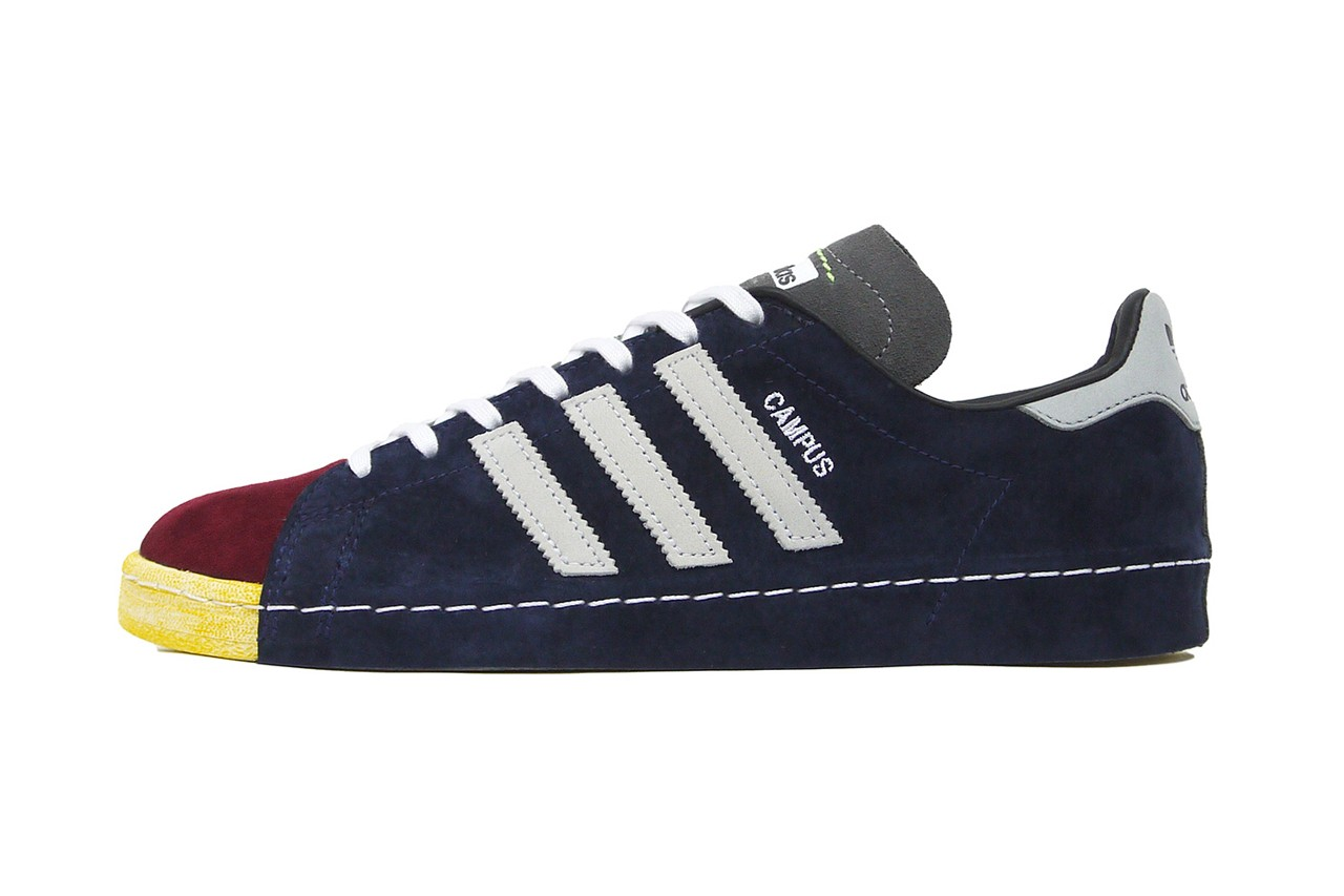 recouture mita sneakers adidas consortium campus 80s suede navy yellow light blue grey red official release date info photos price store list buying guide