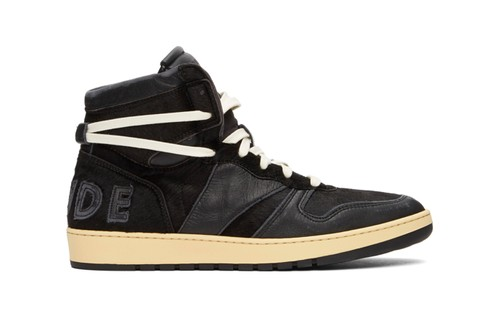 "RHUDE's RHECESS-HI Sneakers Gets Sleek With ""Black"" Colorway"