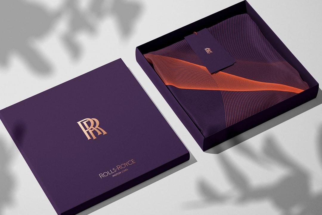 Pentagram Updates Rolls-Royce Brand Identity logo monogram spirit of ecstasy car print design