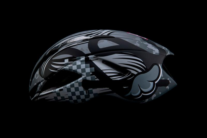 D*Face and Romance Charity Cycling Helmet Release artwork fighter pilots chequered flags comic books bike paint