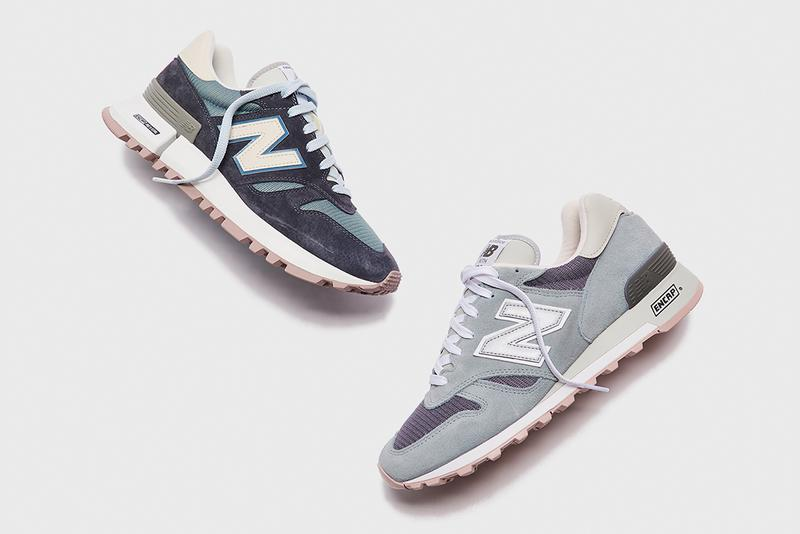 ronnie fieg kith new balance rc 1300 made in usa blue grey white mauve official release date info photos price store list buying guide vibram