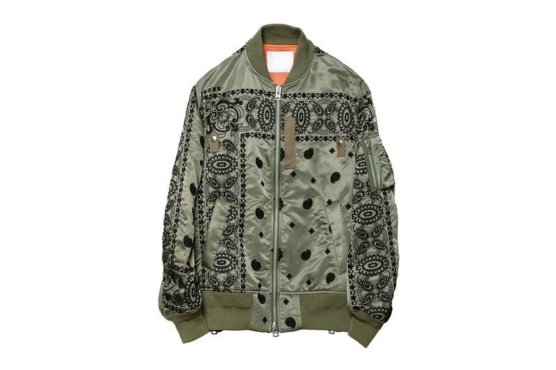 sacai Dover Street Market exclusive embroidered MA-1 flight jacket release outerwear bombers ma-1 military jackets